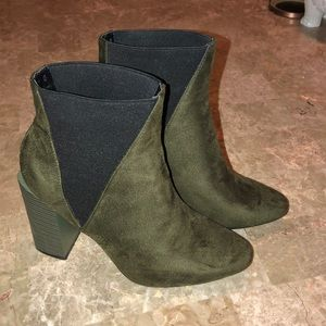 Shoes - Olive & black boots